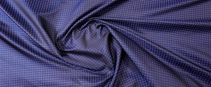 Seidenjacquard - dunkelblau mit weiß