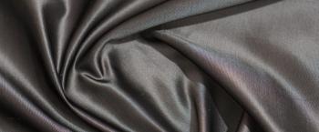 Seide - silber-schwarz changierend