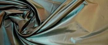 Taft - hellbraun und türkisgrün