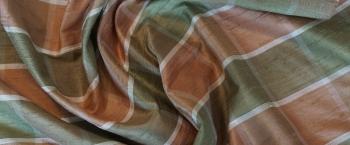 Dupionseide - großes Karomuster