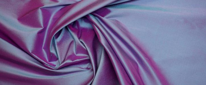 Seidendupion - pink/hellblau