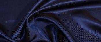 Köperseide - nachtblau/braun