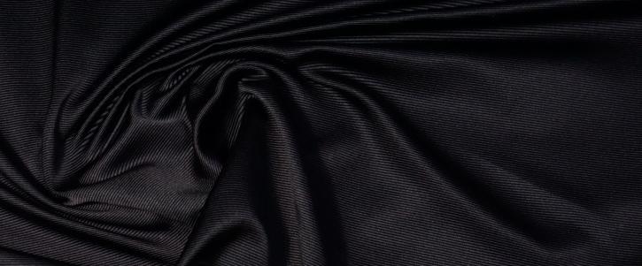 Seidenrips - schwarz