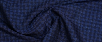feste Jacquardseide - blau/schwarz