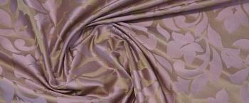 Seidenjacquard - gold und zartes lila