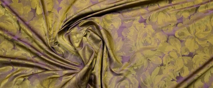 Seidentaft - gold-violett