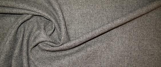 Schurwollstretch - grau meliert