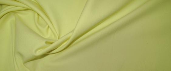 Rest Baumwollstretch - zitronengelb