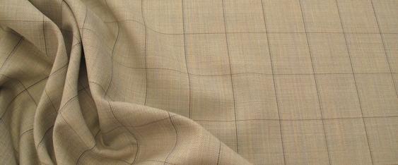 Schurwolle - mint und beige
