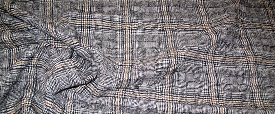 Glencheck mit Baumwolle - gecrasht