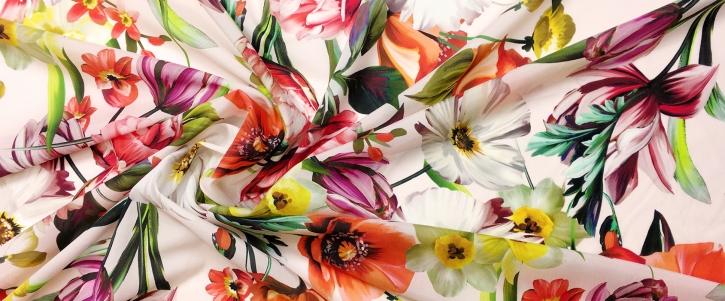 Seidenstretch - Frühlingsblumen
