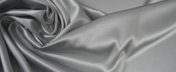 Rest Satin in Stretchqualität - silber
