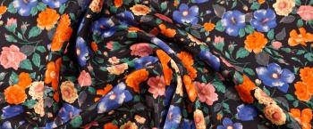 Seidenstretch - floraler Print