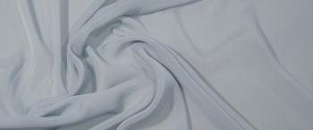 elastischer Chiffon - helles blaugrau