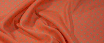 Seidenstretch - Polka dots auf erdbeer