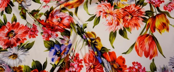 Seidenstretch - Blumen