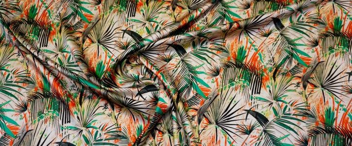 Seidenstretch - Palmenblätter