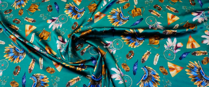 Seidenstretch - Indianer