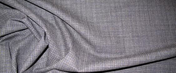 Rest Schurwolle - blau und grau