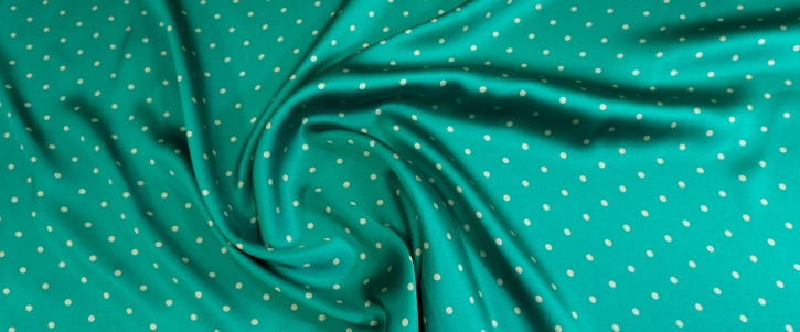 schwerer Seidensatin - smaragdgrün