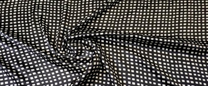 Seidensatin - schwarz/weiß