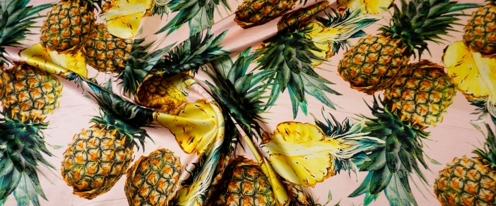 Seidensatin - Ananas