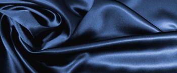Seidensatin - nachtblau