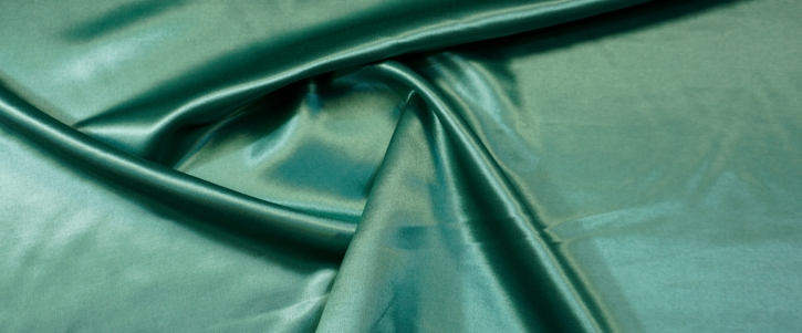 Seidensatin - metallic grün