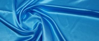 Seidensatin - himmelblau