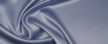 schwerer Seidensatin - helles blaugrau