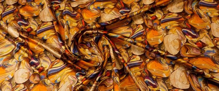 Seidensatin - bunte Steine