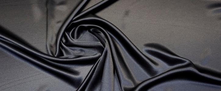 Seidensatin - schwarz