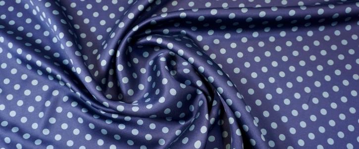 Seide - polka dots, blau