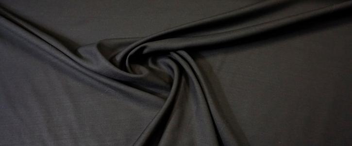 Schurwolle mit Seide - schwarz
