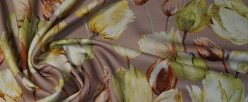 Seidenwollmischung - Tulpen
