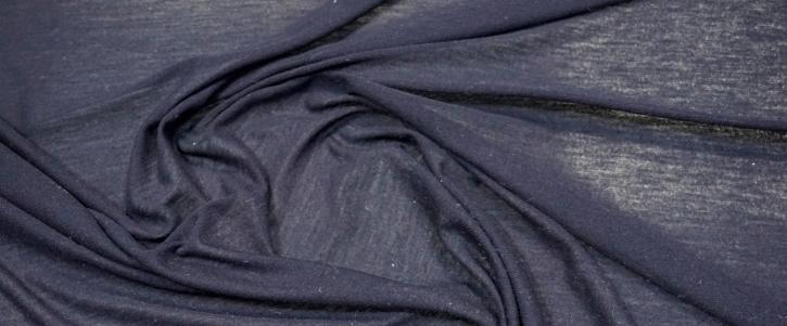 Seide mit Schurwolle - Jersey, dunkeblau
