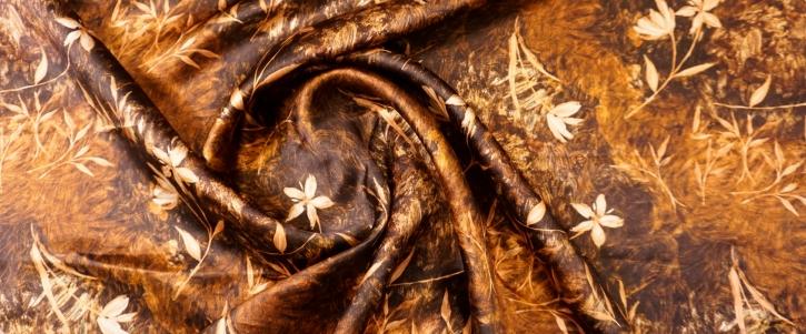 Seide mit Baumwolle - Blumen