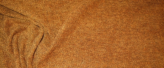Schurwollmischung orangebraun/schwarz