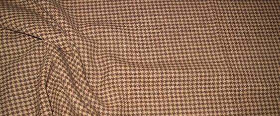 Schurwolle, beige und braun