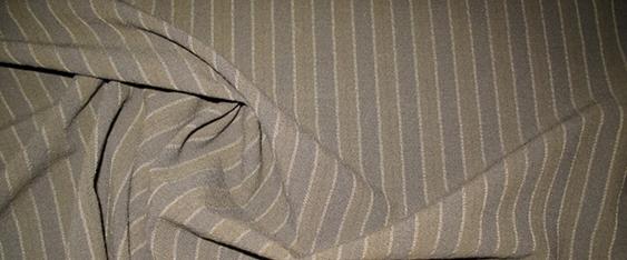 Schurwolle - dezent gestreift