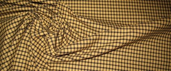 Coupon Baumwollstretch, maisgelb - kariert