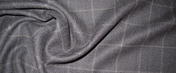 Schurwolle, blau-grau