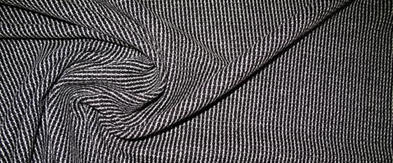 Schurwollmischung, schwarz/weiß