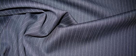 Schurwollmischung, blau mit weiß