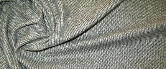 Schurwollmischung, grau/weiß