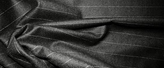 Schurwollstretch - schwarz/weiß