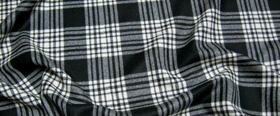 Rest Schurwolle, schwarz/weiß