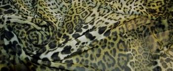 Coupon Chiffon - animal print