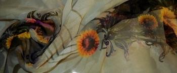 Coupon Chiffon - Sonnenblume
