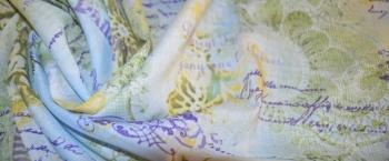 Coupon Floralmotiv mit Schrift